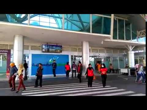 Begini di pintu kedatangan lombok international airport