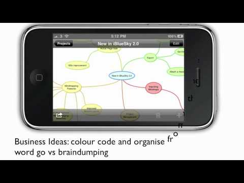 iBlueSky iPhone App Review: Creative MindMapping on Your Mobile Device