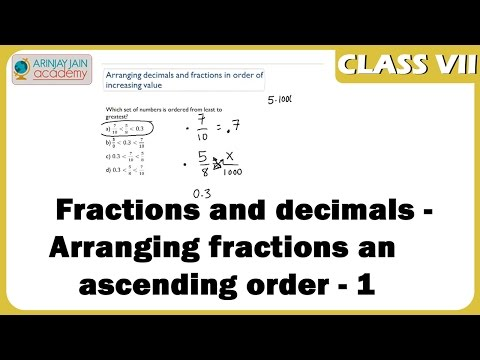 Arranging fractions in ascending order - 1 - Fractions and