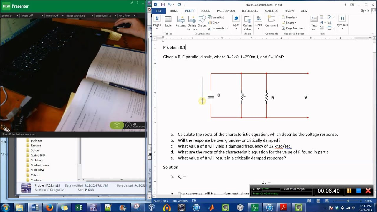 Create Circuit Diagrams with Word & Multsim - YouTube