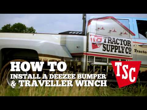 How to Install a DeeZee Bumper and Traveller Winch - YouTube