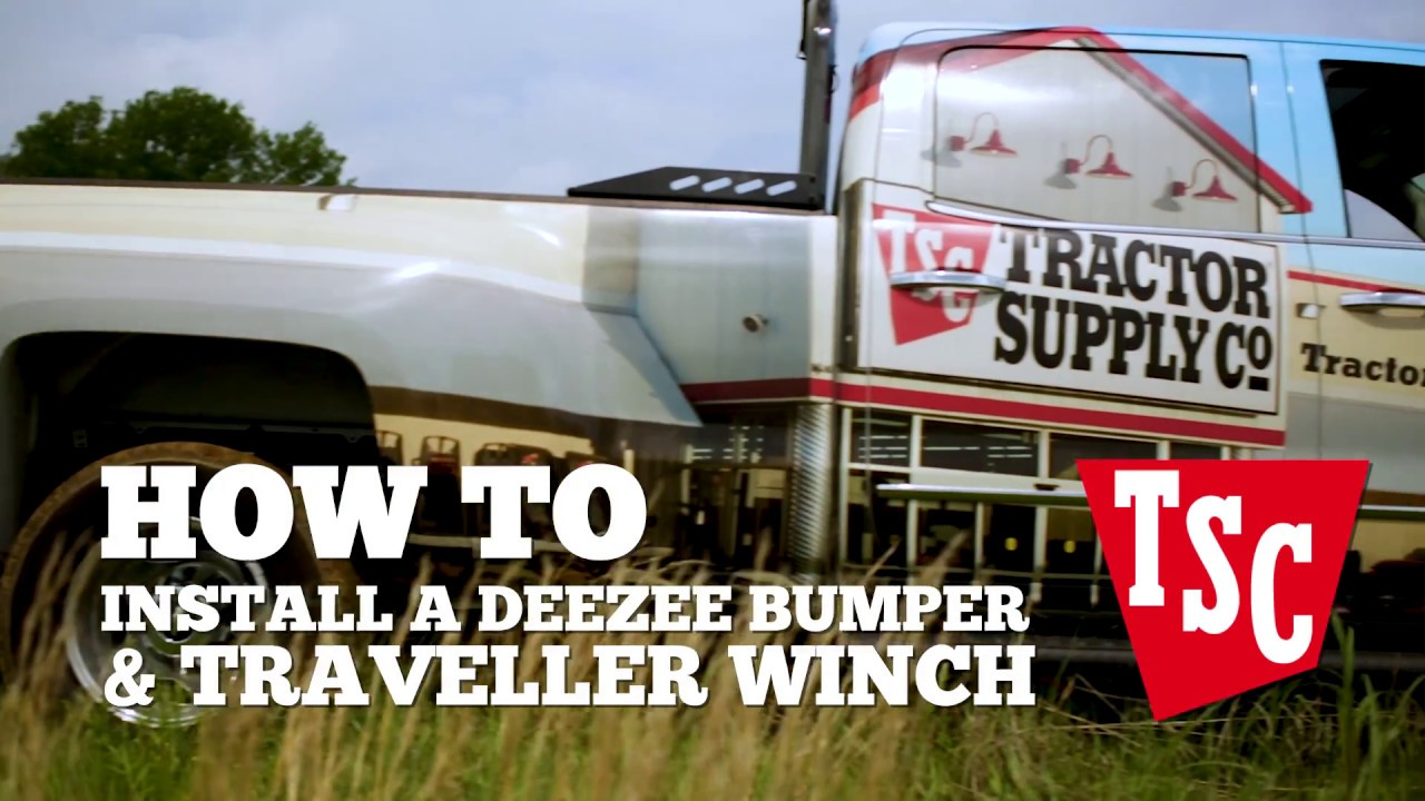 how to install a deezee bumper and traveller winch [ 1280 x 720 Pixel ]