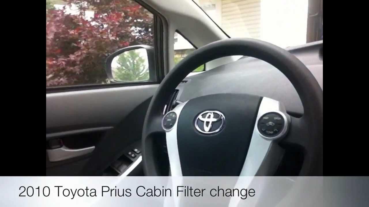 2009 To 2015 Toyota Prius Cabin Filter Change DIY   YouTube