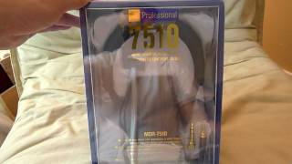 """""""First Look"""" Sony MDR-7510 headphones unboxing"""