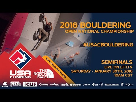 Bouldering National Championships • Semifinals • 1/30/16 • LIVE 10AM CST
