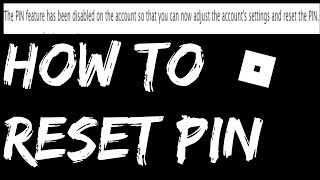 How to RESET Roblox PIN | *Easiest WAY*