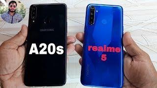 Samsung Galaxy A20s vs Realme 5 Speed Test Comparison?