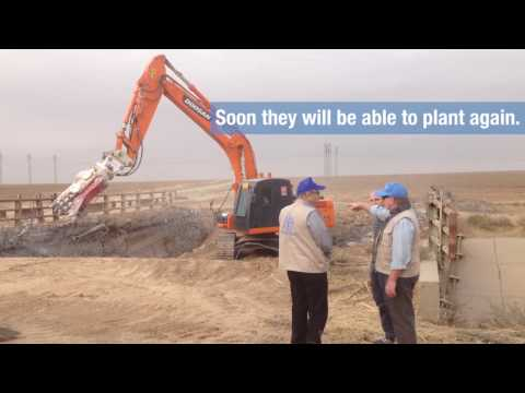 Iraq irrigation project:Demining and repair initiative restores key irrigation canals near Mosul
