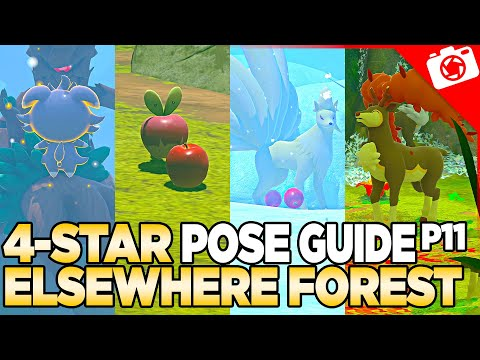 Elsewhere Forest 4-Star Pose & Request Guide   New Pokemon Snap