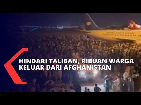 Download Hindari Taliban, Ribuan Warga Afghanistan Berhamburan Penuhi Bandara hingga Mengungsi ke Turki