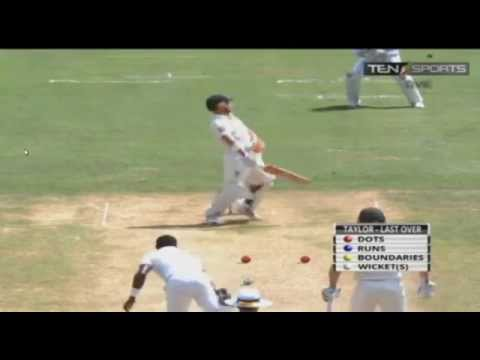 Jerome Taylor's fierry spell! 6 overs 6 maidens 2 wickets! all 36 balls Best bowling performance