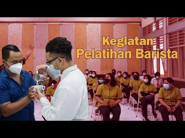 PELATIHAN BARISTA BERSAMA NCSA KOMPETENSI KEAHLIAN PERHOTELAN DAN TATA BOGA SMKN 8 SURABAYA