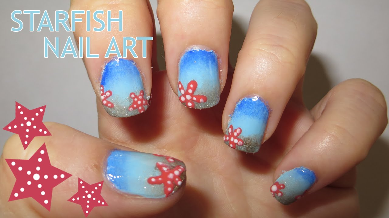 Starfish Nail Art (Requested) - Starfish Nail Art (Requested) - YouTube