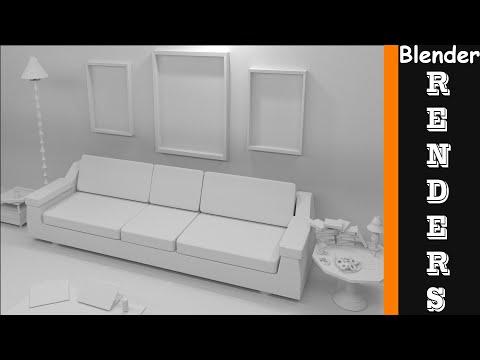 Living Room (Modeling-Timelaspe) : Blender - Kidus Ehsetu
