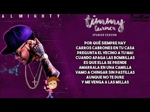 TIMMY TURNER - ALMIGHTY (LETRA)