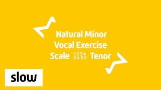 Tenor | Vocal Exercise | Natural Major Scale | 1 2 3 4 5 4 3 2 1 | Bb2-D5 | Slow 60 BPM