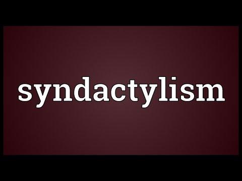 Header of syndactylism