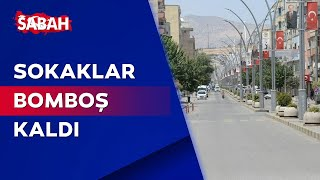 Şırnak Cizre'de sıcaklık rekoru ardından sokaklar boşaldı... 49.1 derece!