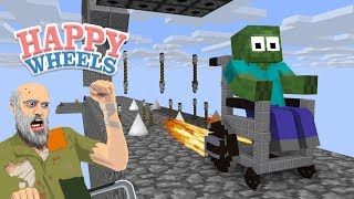 Monster School : Happy Wheels - Minecraft Animation