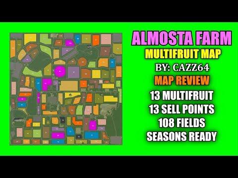 "Almosta Farm Multifruit Map ""Map Review"" Farming Simulator 19"