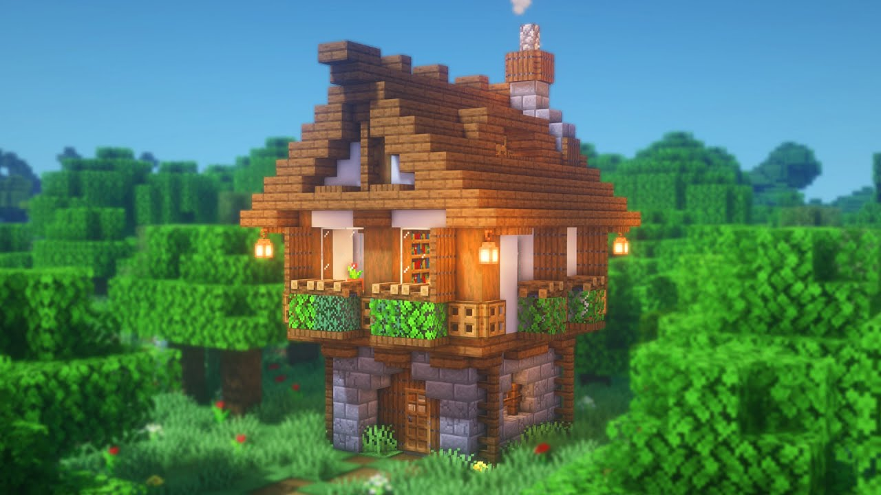 Minecraft   How to Build a Medieval Starter House   Simple House Tutorial