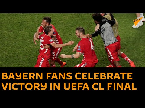 Bayern Fans Celebrate Victory Over Psg In 2020 21 Uefa Champions League Final Youtube