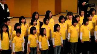 小松市制70周年記念式典 ⑪ 2010.12.5 小松市歌斉唱