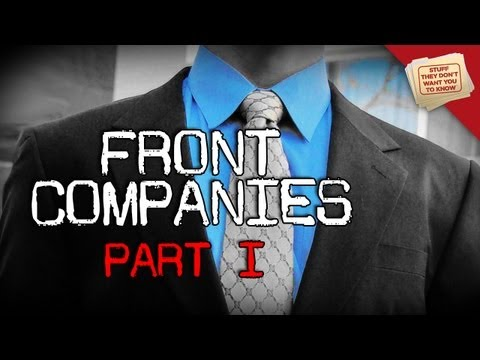What is a front company?