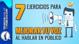 Oratoria, Curso para Hablar en Publico: 7 Ejercicios para Mejorar la Voz | Tecnicas de Volumen #147
