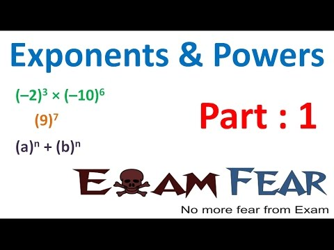 Maths Exponents and Powers part 1 (Introduction) CBSE Class 7  Mathematics VII