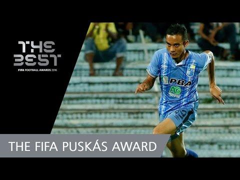 El malayo Mohd Faiz Subri recibió el Premio Puskas al mejor gol