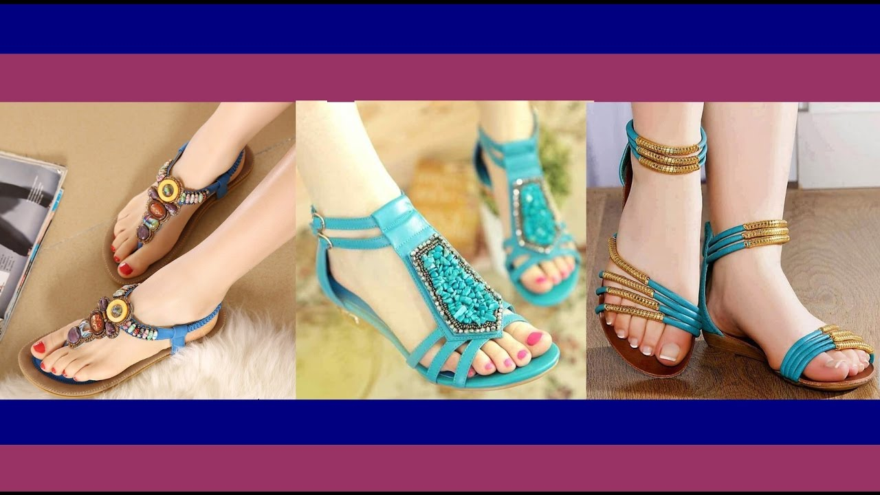 6a64659f3643 Beautiful Ladies Flat Sandals Collection 2017 - YouTube