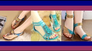 Beautiful Ladies Flat Sandals Collection 2017