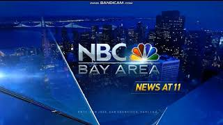 KNTV NBC Bay Area News at 11pm teaser and open August 13, 2018