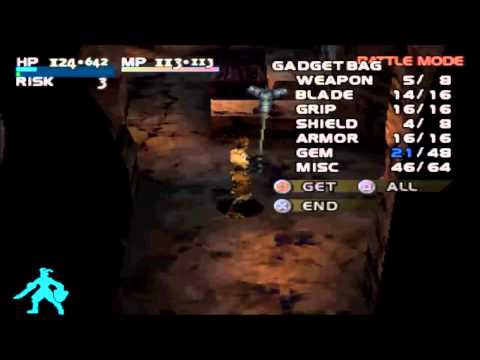 Vagrant Story Tutorial: How to get Excalibur (Holy Win) Sword Easiest Method