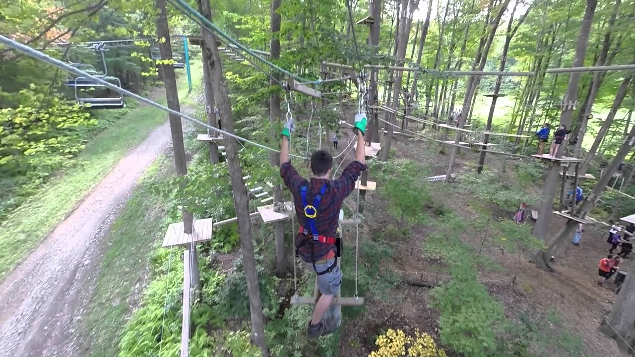 Holiday Valley High Ropes Course Youtube