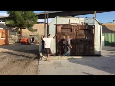 Moving Paintbooth and Sandblast Booth at Ricks Restorations