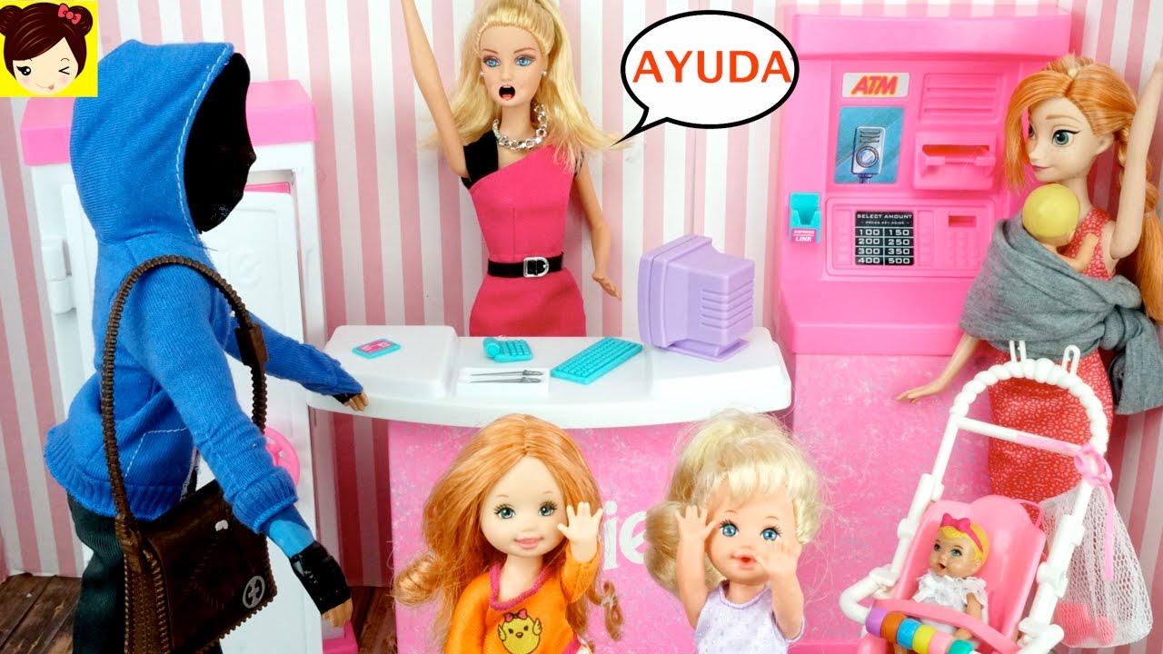 Las Bebes de Elsa y Ana Atrapan al Ladron que robo el Banco de ...
