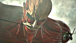ATTACK ON T TAN 2   Armored Titan  Colossal Titan Boss Fight And TRANSFORMAT ON PS4 PRO
