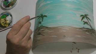 HOW TO PAINT ON GLASS with Frost Gloss Enamels BEER LIGHT by RAEART