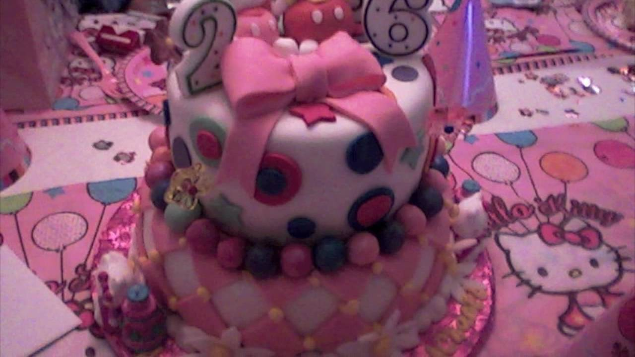 Nicole Chanels 26th Hello Kitty Birthday Cake