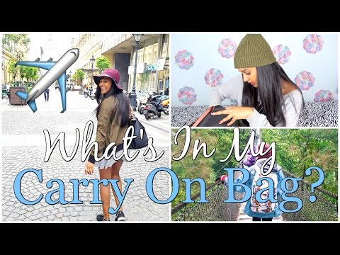 What's In My Carry On Bag 2017 | Travel Essentials!