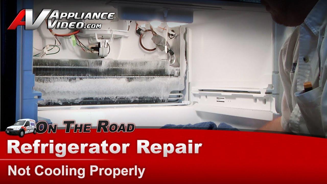 Whirlpool MaytagKitchenAidKenmoreRoper  Sears Refrigerator Repair Not cooling  YouTube