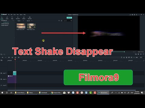 How To Create Text Shake Disappear Effect In Filmora 9