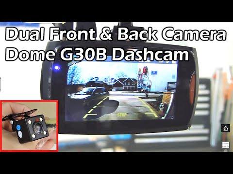 "DUAL CAMERA CAR DASH CAM - 2.7"" 1080P Full HD DVR - Dome G30B"