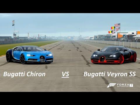 Forza 7 Battle: Bugatti Chiron vs Bugatti Veyron SS