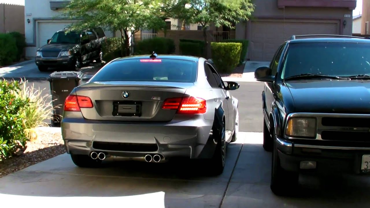 Bmw M3 Space Grey Exhaust Youtube