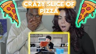 Matt Stonie 1000+ Pepperoni on 1 Slice of Pizza CHALLENGE!!! - Reaction!!