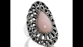 Studio Barse Pink Opal Sterling Silver Textured Ring