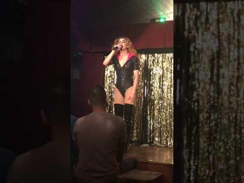 """NYC Drag Queen Jansport Singing """"Maybe This Time"""" From Cabaret"""